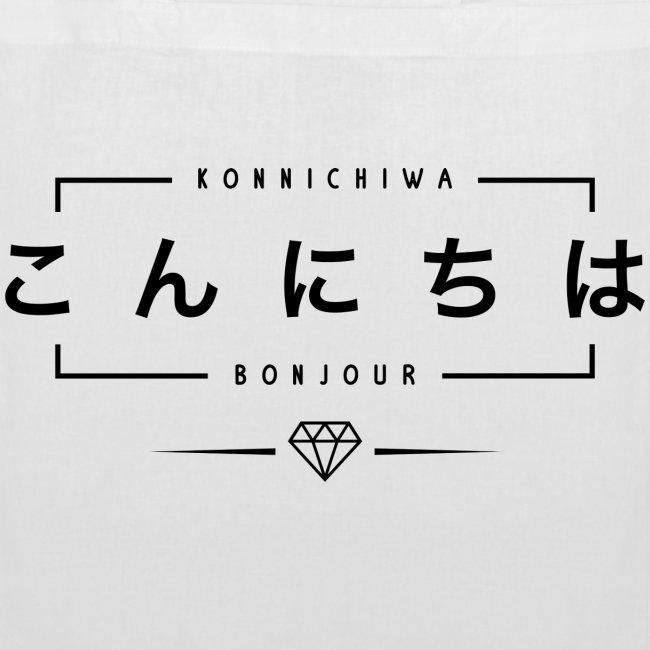 Tote Bag Konnichiwa