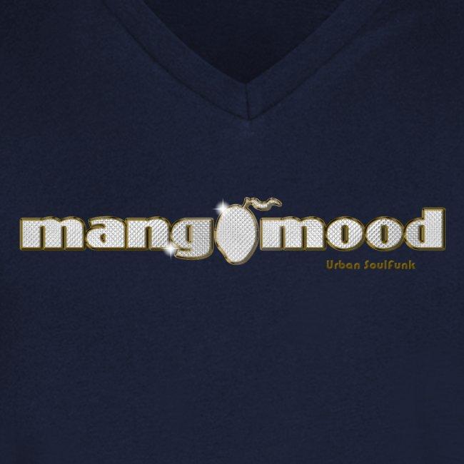 Männer T-Shirt mit V-Ausschnitt und Glitzer-Logo