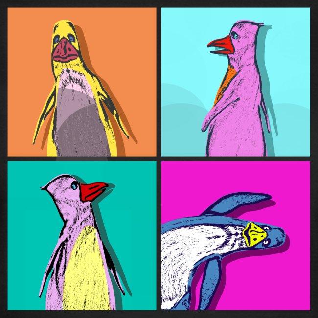 Warhol-Penguin Ladies T- Shirt