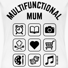 Multifunctional Mum (9 Icons) T-Shirts