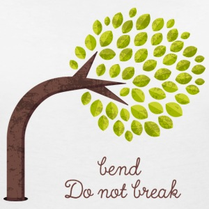 Bend and do not Break Color T-Shirts - Frauen T-Shirt mit V-Ausschnitt