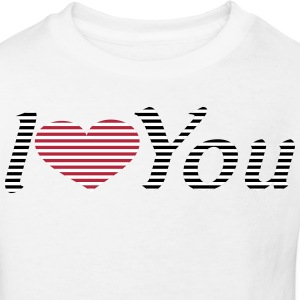 gestreiftes_i_love_you T-Shirts - Kinder Bio-T-Shirt