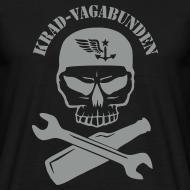 Motiv ~ T-Shirt Männer - Totenkopf, Pulle & Schraubenschlüssel (grauer Aufdruck)