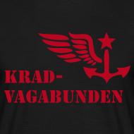Motiv ~ T-Shirt Männer: Logo + Schriftzug vorne (roter Aufdruck)