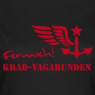 Motiv ~ FERNWEH - T-Shirt Damen (Aufdruck rot)