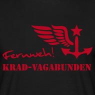 Motiv ~ FERNWEH - T-Shirt Männer (Aufdruck rot)