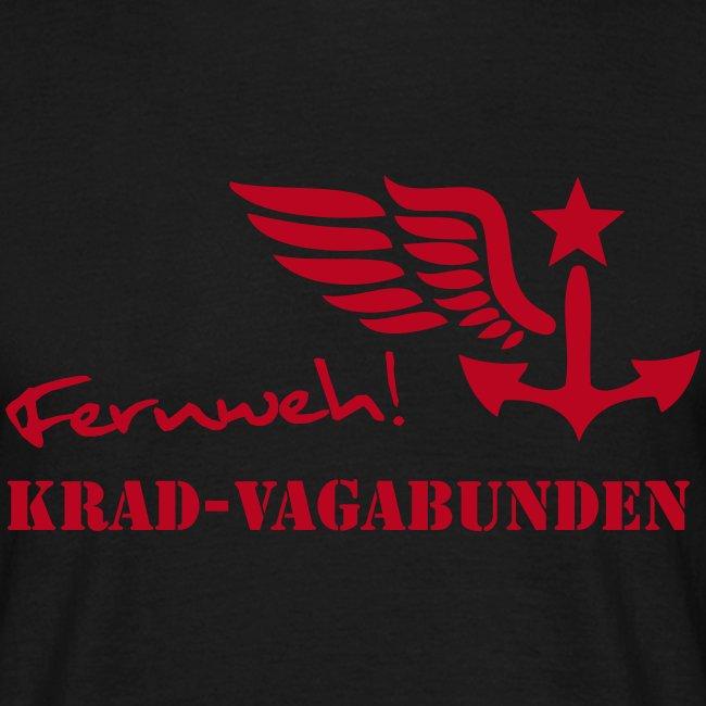FERNWEH - T-Shirt Männer (Aufdruck rot)