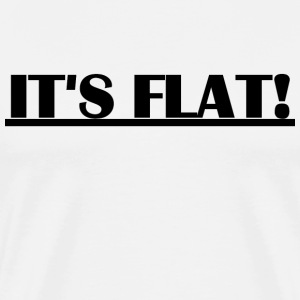 Flat Earth - It's Flat big T-Shirts - Männer Premium T-Shirt