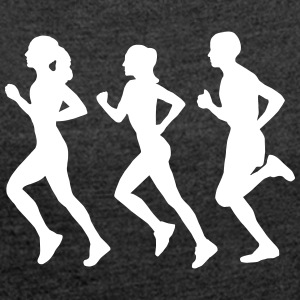 Running Group (Silhouette) T-Shirts - Women's T-shirt with rolled up sleeves