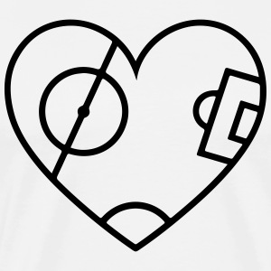 Pitch Heart T-Shirts - Men's Premium T-Shirt