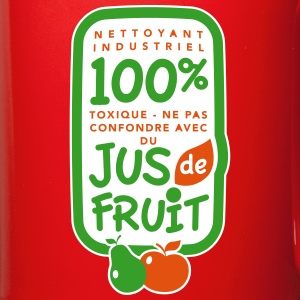 100% jus de fruit - Tasse en couleur
