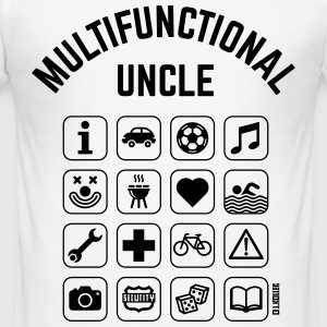 Multifunctional Uncle (16 Icons) T-Shirts - Men's Slim Fit T-Shirt