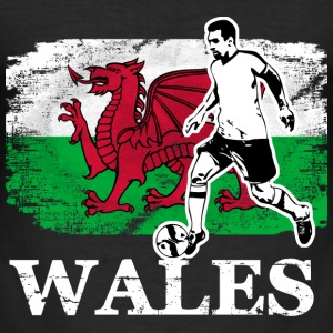 Soccer - Fußball - Wales Flag Tee shirts - Tee shirt près du corps Homme