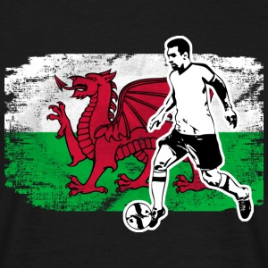 Soccer - Fußball - Wales Flag Tee shirts - T-shirt Homme
