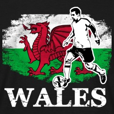 Soccer - Fußball - Wales Flag T-Shirts