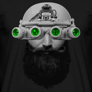 Beard & Night Vision - Men's T-Shirt