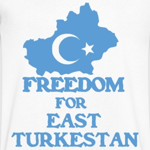 Freedom Turkestan  - Men's V-Neck T-Shirt
