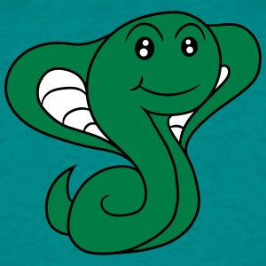 cobra snake sweet cute little comic cartoon T-Shirts - Men's T-Shirt