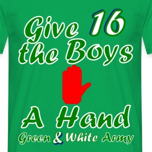 Green and White Army men's 16 t-shirt - Men's T-Shirt