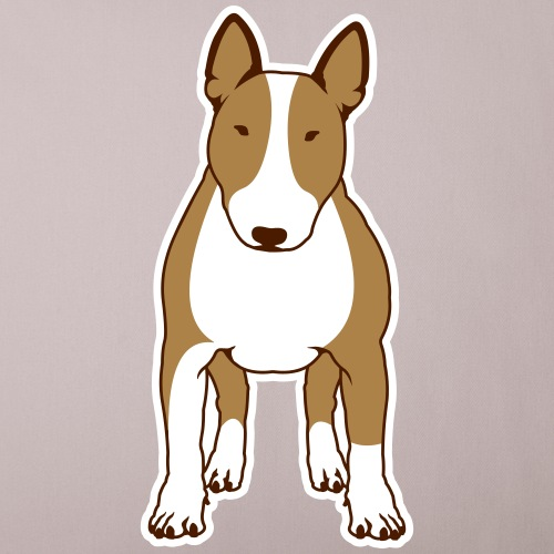 BULLTERRIER FRONT colored
