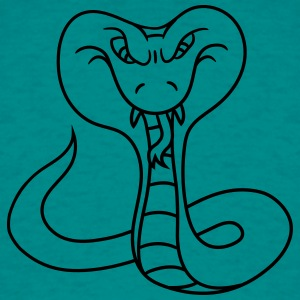 cobra poisonous dangerous cool design evil snake b T-Shirts - Men's T-Shirt