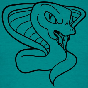 cobra cool evil dangerous rattlesnake poisonous bi T-Shirts - Men's T-Shirt