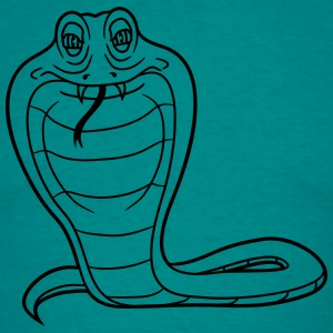 cobra comic cartoon boze gevaarlijke giftige T-shirts - Mannen T-shirt