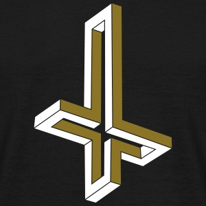 Inverted Impossible Cross - Men's T-Shirt