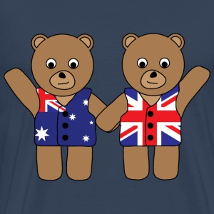 UK Australia Bears.png T-Shirts - Men's Premium T-Shirt