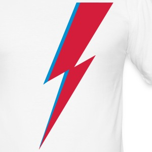 flash, music, rebel, Bowie, hero, space, blackstar T-Shirts - Men's Slim Fit T-Shirt