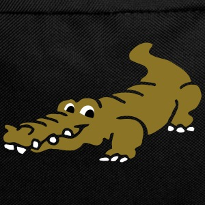 Smiling Alligator by patjila Bags & Backpacks - Backpack