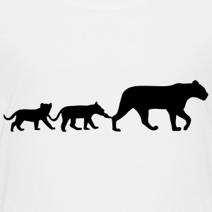 Lioness and lion cubs T-shirts - Premium-T-shirt tonåring