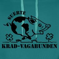 Motiv ~ Kapuzenpulli - Glücksschwein (schwarzer Aufdruck)