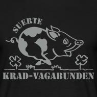 Motiv ~ T-Shirt Männer: Glücksschwein (silberner Aufdruck)