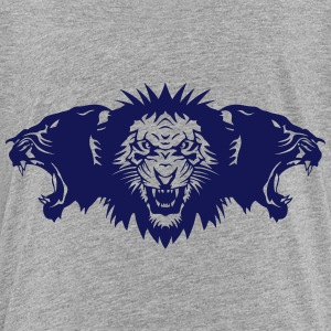 Lion roared face panther profile Shirts - Teenage Premium T-Shirt
