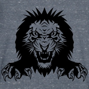 Lion claw open mouth T-Shirts - Men's V-Neck T-Shirt