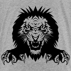 Lion claw open mouth Shirts - Teenage Premium T-Shirt