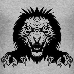 Lion claw open mouth T-Shirts - Men's Slim Fit T-Shirt