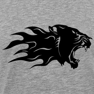 Panther black profile flame 3003 T-Shirts - Men's Premium T-Shirt