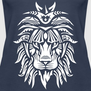 Lion Super Tribal Mouth Jungle King 2 Tops - Women's Premium Tank Top