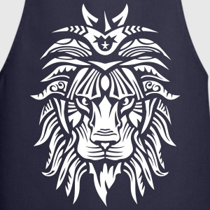 lion super tribal gueule roi jungle 2 Tabliers - Tablier de cuisine
