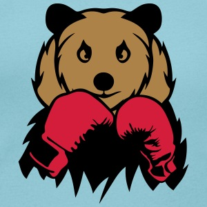 Bear boxer glove boxing T-Shirts - Women's Scoop Neck T-Shirt