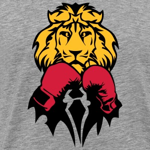 lion boxer glove boxing T-Shirts - Men's Premium T-Shirt