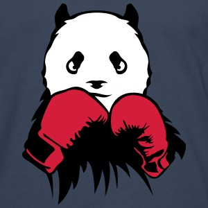 panda boxer glove boxing Long sleeve shirts - Men's Premium Longsleeve Shirt