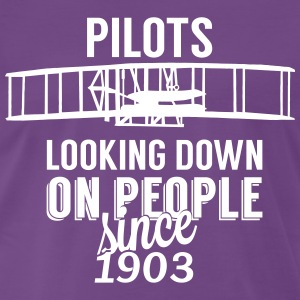 Pilots looking down Tee shirts - T-shirt Premium Homme