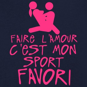 amour sport favori icone sexe couple Tee shirts - T-shirt Homme col V