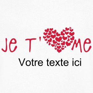 ajouter texte je aime coeur 2803 Tee shirts - T-shirt Homme col V