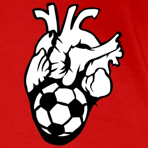 football Heart Balloon Life T-Shirts - Women's Premium T-Shirt