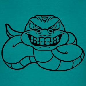 grin angry dangerous snake constrictor comic carto T-Shirts - Men's T-Shirt
