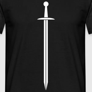Monochrome sword T-shirts - Mannen T-shirt